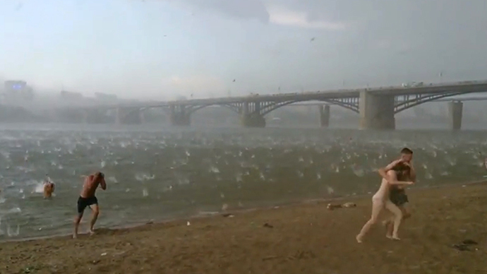 An image grab taken from a video uploaded on YouTube by user Lilya Goppe