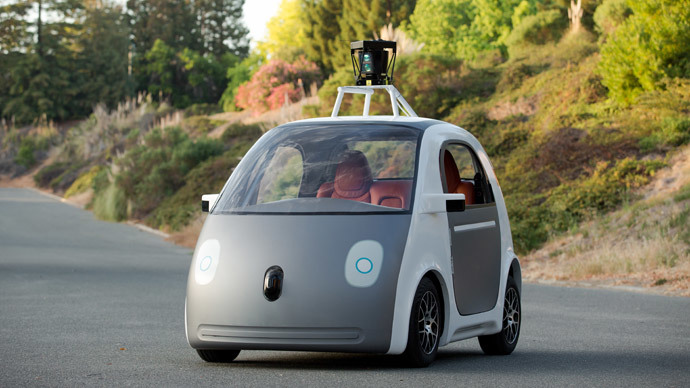 Self-drivinga two-seat prototype vehicle conceived and designed by Google.(AFP Photo / Google)