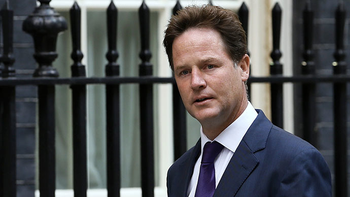 Britain's deputy prime minister Nick Clegg (Reuters / Stefan Wermuth)