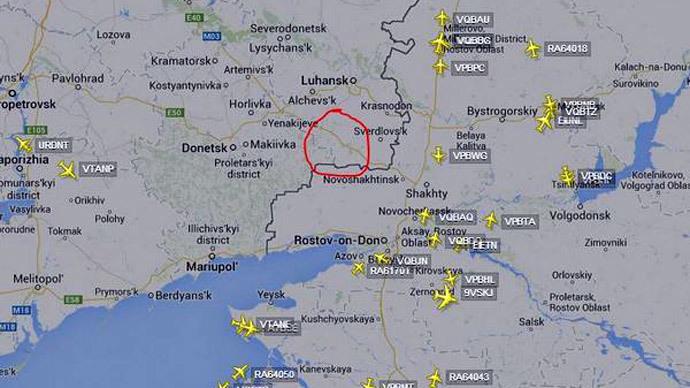 Screenshot from flightradar24.com