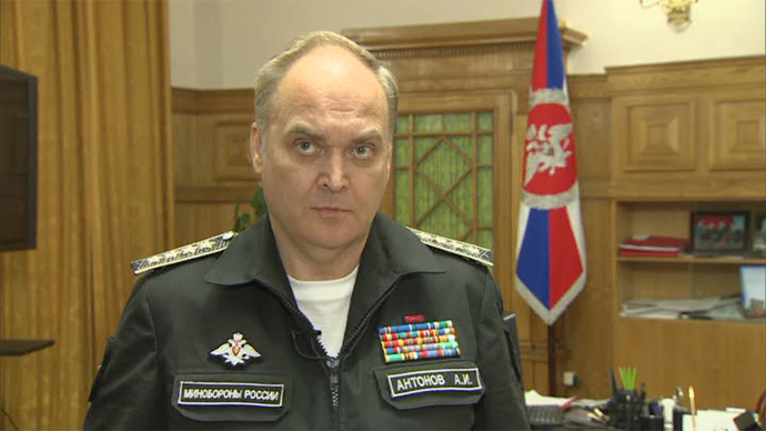 Russia's Deputy Defense Minister Anatoly Antonov (A still image from RT video)