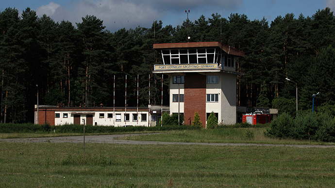 The watch tower of an airport is pictured in Szymany, close to Szczytno in northeastern Poland.  The European Union, human watchdogs, domestic and foreign media identified the airport as a potential site which the CIA used to transfer al Qaeda suspects to a nearby prison (Reuters / Kacper Pempel)