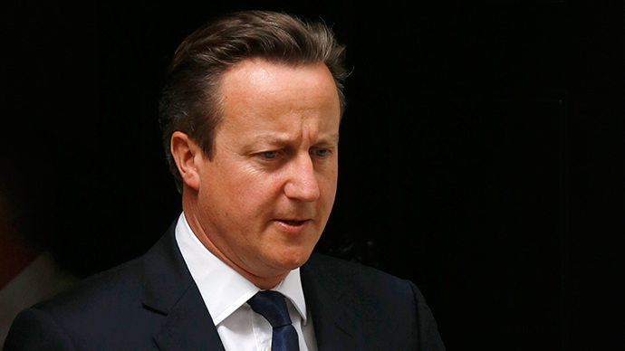 Prime Minister,  David Cameron, denies the UK has breached the government's arms embargo on UK arms sales to Russia. (Reuters / Luke MacGregor)