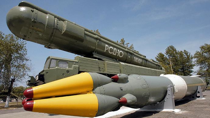 The medium-range RSD-10 Pioneer (SS-20) missile system (RIA Novosti / Anton Denisov)