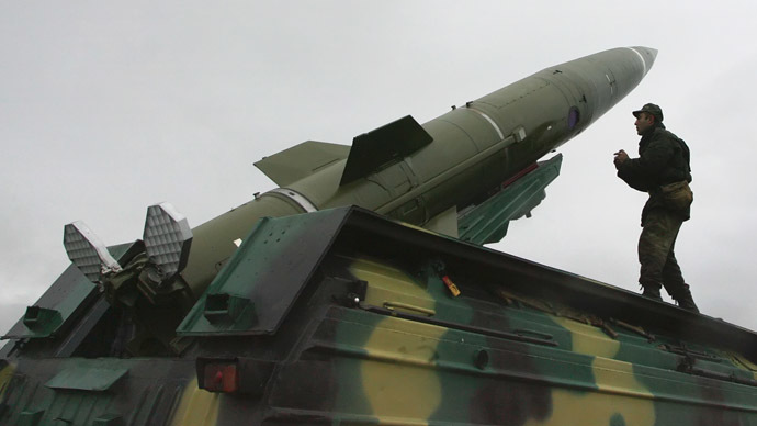 "FILE: Tactical Operational Missile Complex ""Tochka"" (RIA Novosti/Igor Zarembo)"