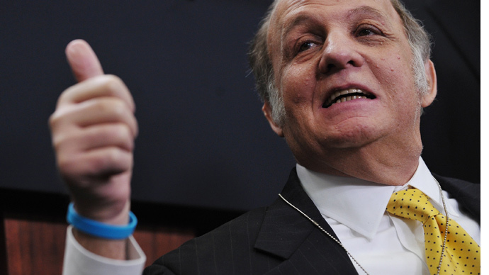 Former White House press secretary James Brady (AFP Photo / Mandel Ngan)