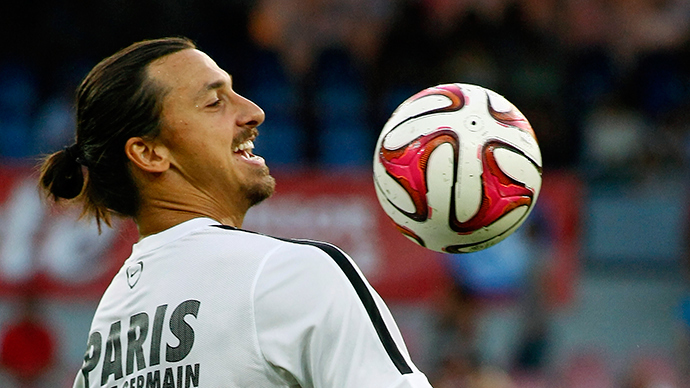 Paris Saint-Germain's Swedish forward Zlatan Ibrahimovic (AFP Photo / Carlo Hermann)