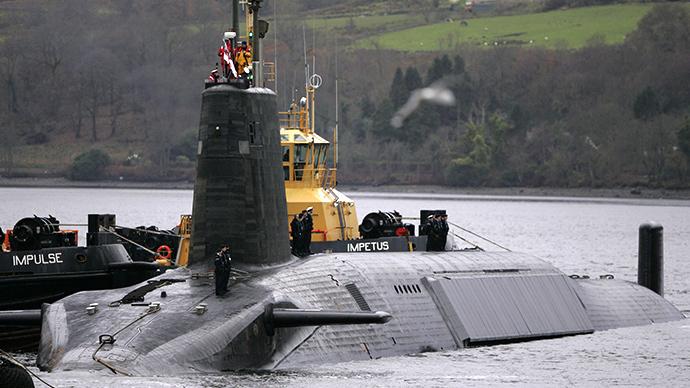 A British Royal Navy Vanguard class Trident Ballistic Missile Submarine. (Reuters / David Moir)