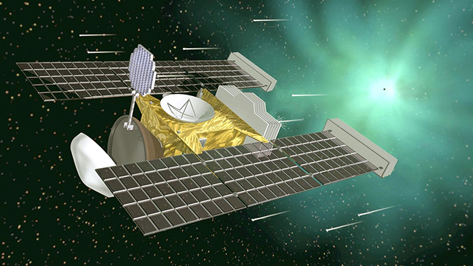 This illustration shows NASA's Stardust space probe, launched nearly five years ago, which is due to capture the first-ever samples of comet dust. (AFP Photo / NASA)
