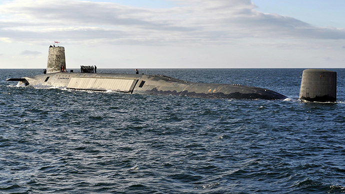 A picture shows the Trident Nuclear Submarine (AFP Photo / Andy Buchanan)
