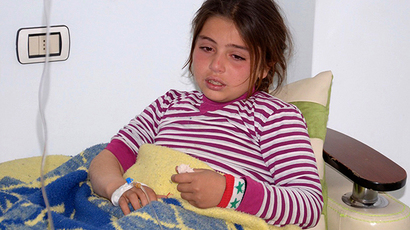 ARCHIVE PHOTO: A girl, injured in what the government said was a chemical weapons attack, is treated at a hospital in the Syrian city of Aleppo March 19, 2013 (Reuters / George Ourfalian)
