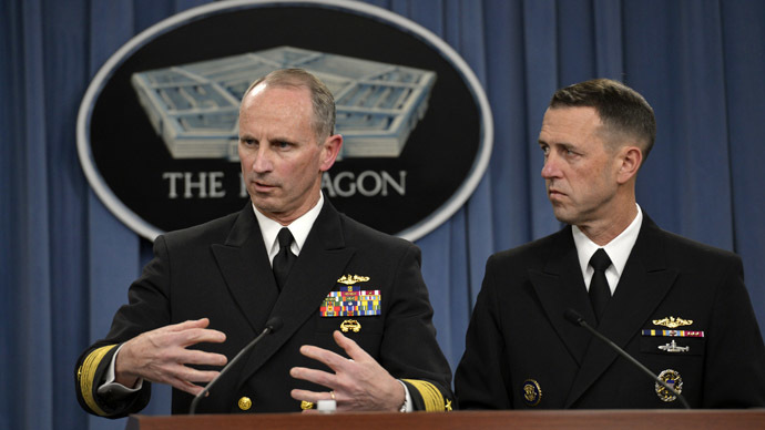 Chief of Naval Operations Navy Adm. Jonathan W. Greenert and Navy Adm. John Richardson, director of the Naval Nuclear Propulsion Program (Photo from www.defense.gov)