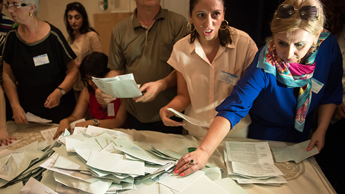 Vote counting starts at a polling station as Abkhazia holds early presidential election (RIA Novosti / Mikhail Mokrushin)