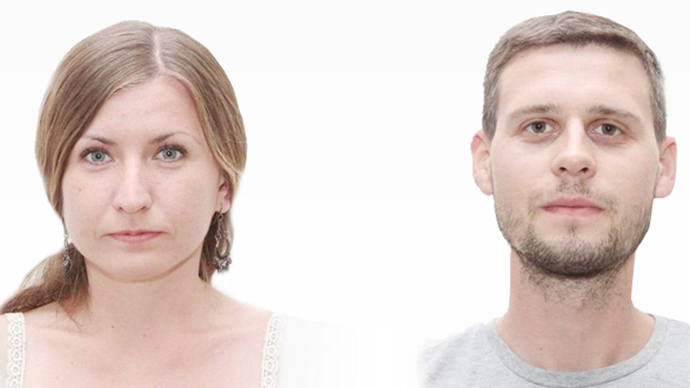 Evgeniya Korolyova (left) and Maksim Vasilenko (Image from ktelegraf.com.ua)