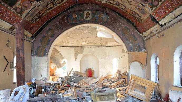 St. John Kronstadt Orthodox Church, destroyed by Kiev troops in the city of Kirovskoye, in the Donetsk Region (Photo from gorlovka-eparhia.com.ua)