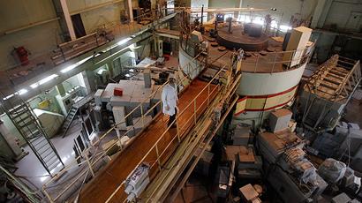 A nuclear reactor is seen at a nuclear research facility in Kiev (Reuters / Gleb Garanich)