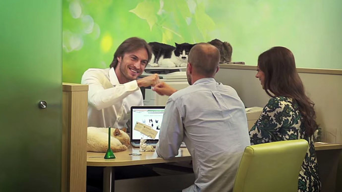 Screenshot from Sberbank Promotional Video
