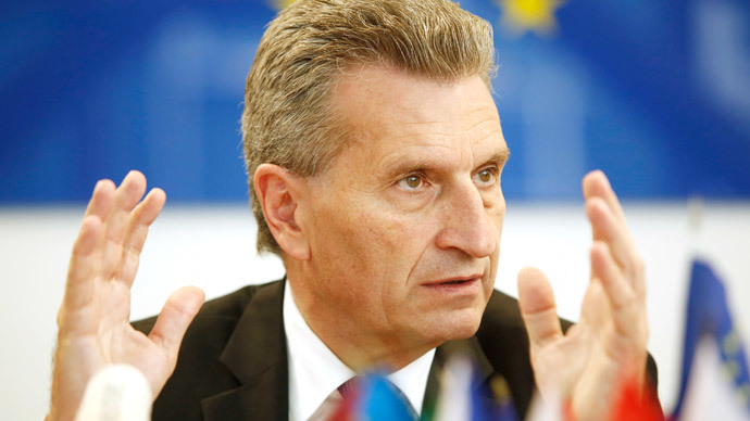 EU-Commissioner for Energy German Guenther Oettinger.(AFP Photo / Dieter Nagl)
