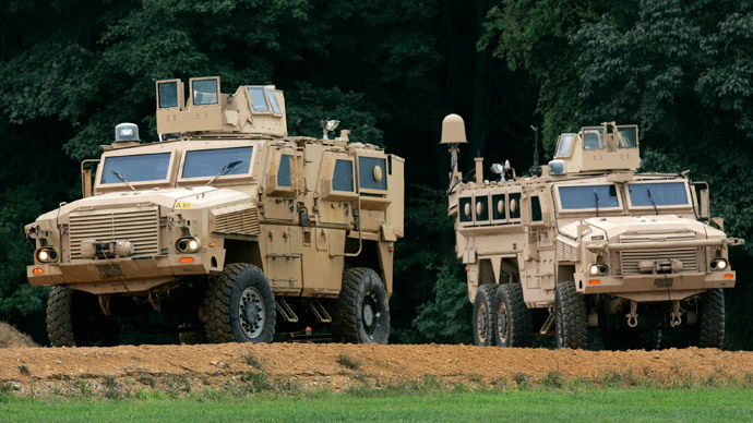 Mine Resistant Ambush Protected (MRAP).(AFP PHOTO / Aul Loeb)