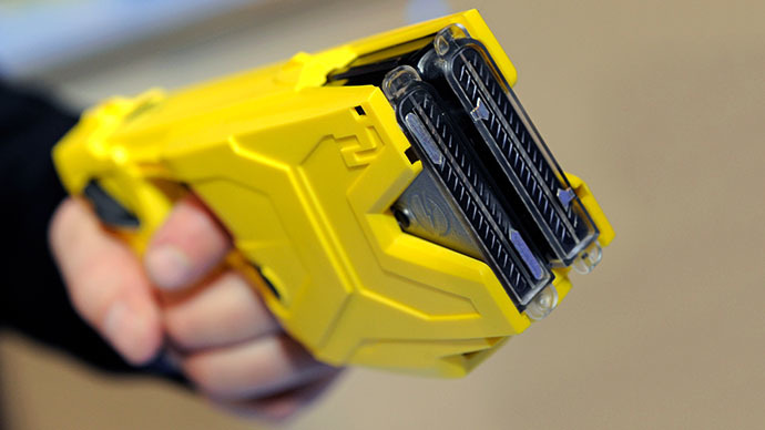 Taser International's X2 two-shot Taser for law enforcement (AFP Photo / Ethan Miller)
