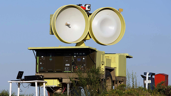 A picture shows a part of Iran's new medium range anti-aircraft air defence system Mersad (Ambush) (AFP Photo)