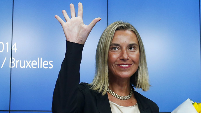 Newly elected European High Representative for Foreign Affairs Federica Mogherini (Reuters/Yves Herman)