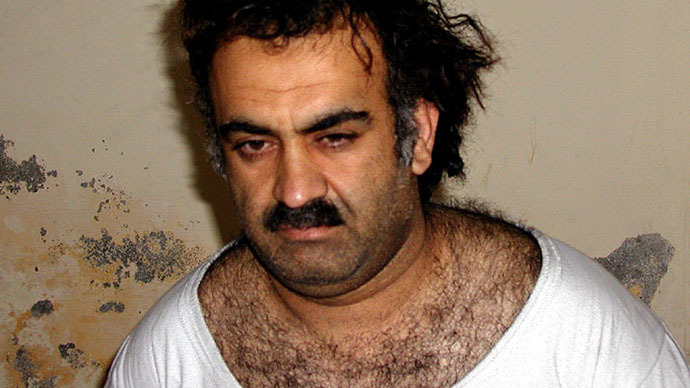 Khalid Sheikh Mohammed after his capture in Pakistan on March 1, 2003 (Image from cooperativeresearch.org)