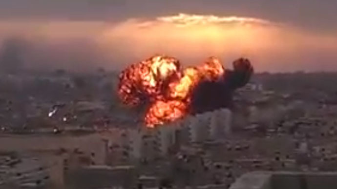 Image grab taken from a video uploaded on YouTube by user@Conflict News