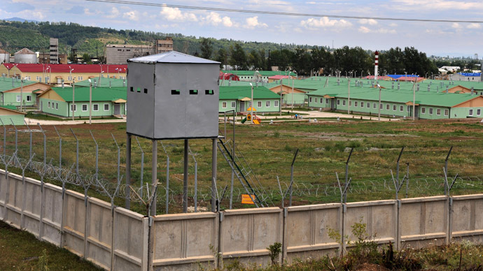 The compound of the Russian military base in Tskhinvali, South Ossetia (RIA Novosti/Grigoriy Sisoev)