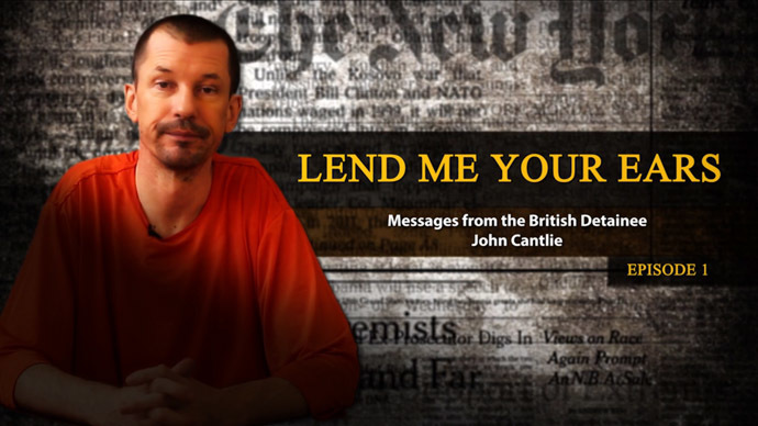This is a still from the video released by ISIS, showing British hostage John Cantlie