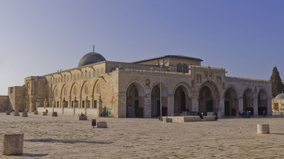 Northeast exposure of Al-Aqsa Mosque on the Temple Mount, in the Old City of Jerusalem. (Image from wikipedia.org, Author: Godot13)