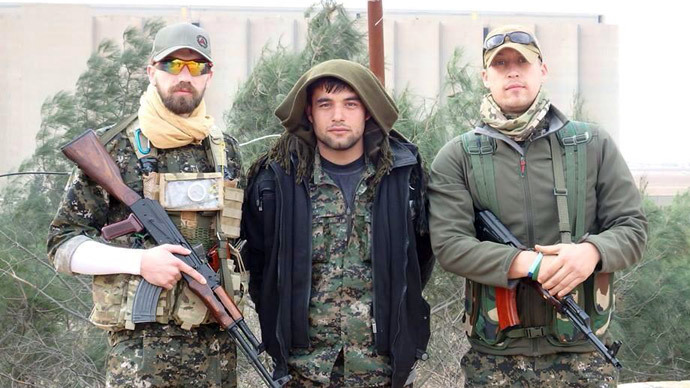 Briton Jamie Read (left) reportedly fighting with Kurdish militia in Syria against the Islamic State. Photo from facebook.com