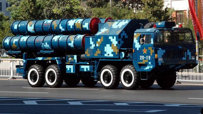 Chinese HQ-9 launcher (image from wikipedia by High Contrast)