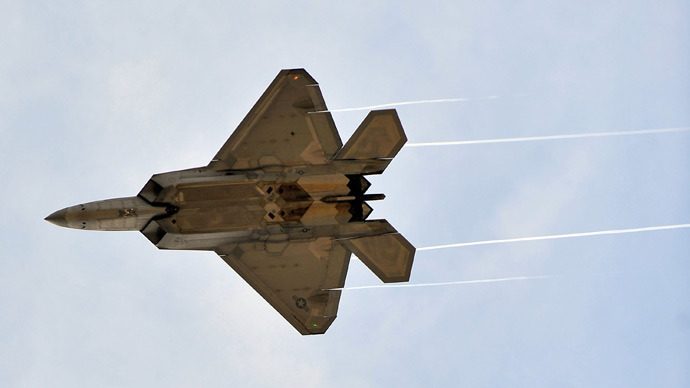 F-22 Raptors (AFP Photo / Jason Smith)