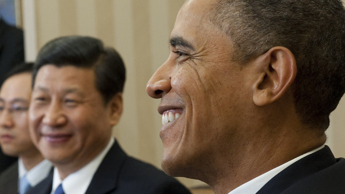 US President Barack Obama and Chinese Vice President Xi Jinping (AFP Photo / Saul Loeb)