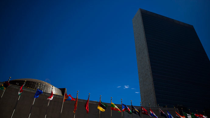 The United Nations Headquarters is pictured during the U.N. General Assembly in New York.(Reuters / Eric Thayer)