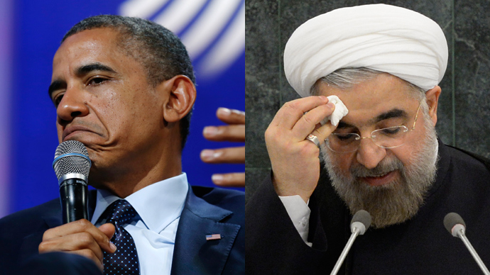 U.S. President Barack Obama (Reuters / Kevin Lamarque) and Iranian President Hassan Rouhani (AFP Photo / Pool / Brendan McDermid)