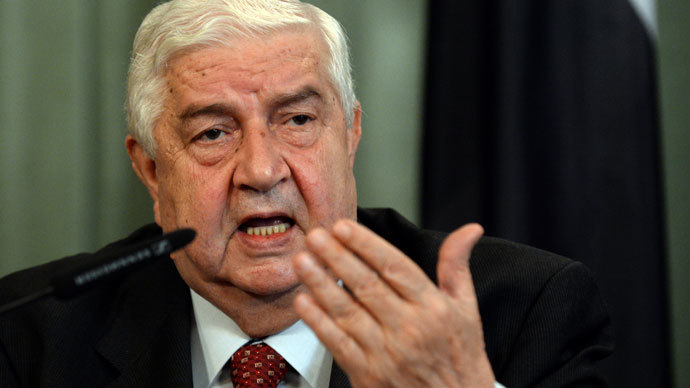 Syrian Foreign Minister Walid Muallem.( AFP Photo / Yuri Kadobnov)