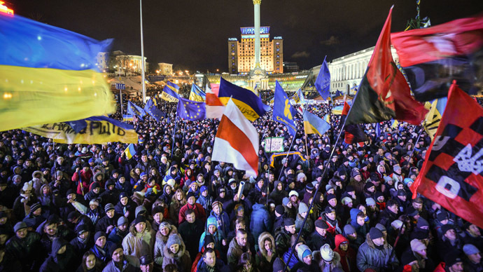 Supporters of Ukraine's EU integration in Kiev's Independence Square. (RIA Novosti/Alexey Kudenko)