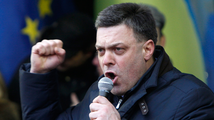 Oleh Tyahnybok, head of the All-Ukrainian Union Svoboda (Freedom) Party (Reuters / Gleb Garanich)