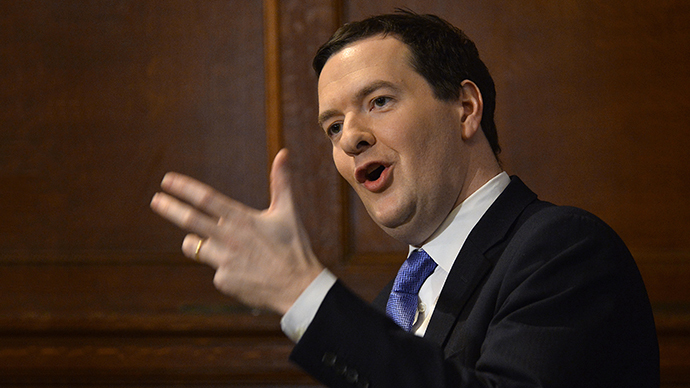 Britain's Chancellor of the Exchequer George Osborne addresses a conference on European Union reform, in central London January 15, 2014. (Reuters / Toby Melville)
