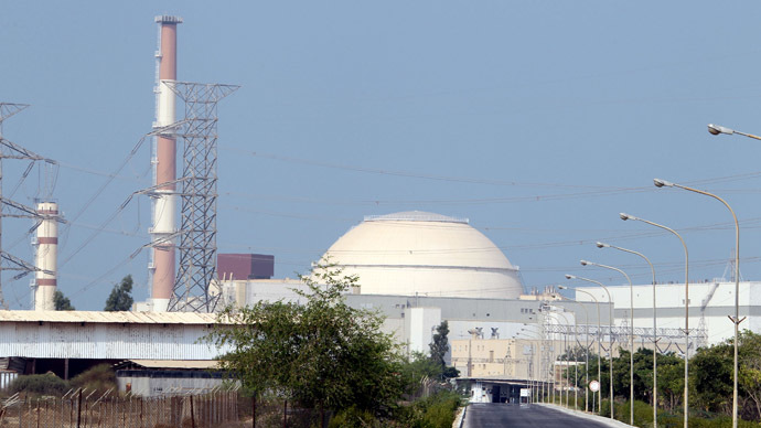 A general view shows the reactor building at the Bushehr nuclear power plant in southern Iran, 1200 kms south of Tehran (AFP Photo)