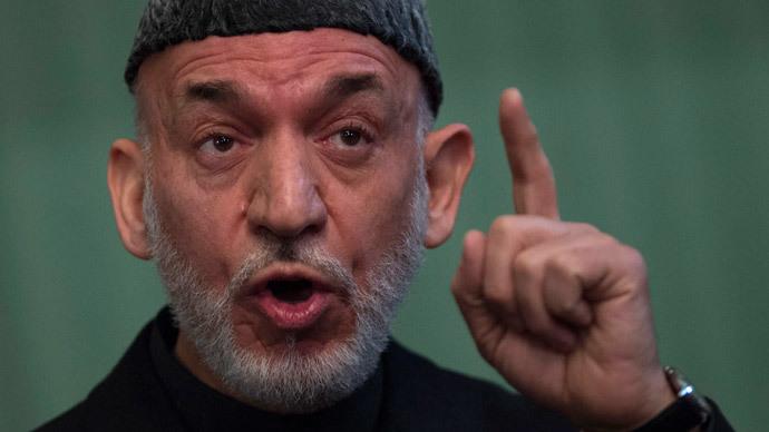 Afghan President Hamid Karzai (AFP Photo / Johannes Eisele)
