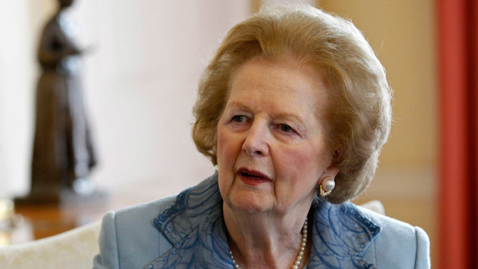 Former Prime Minister Baroness Margaret Thatcher (AFP Photo / Suzanne Plunket / Pool)