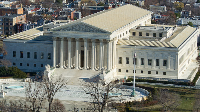A view of the US Supreme Court seen from the top of the US Capitol dome December 19, 2013 in Washington, DC. (AFP Photo)