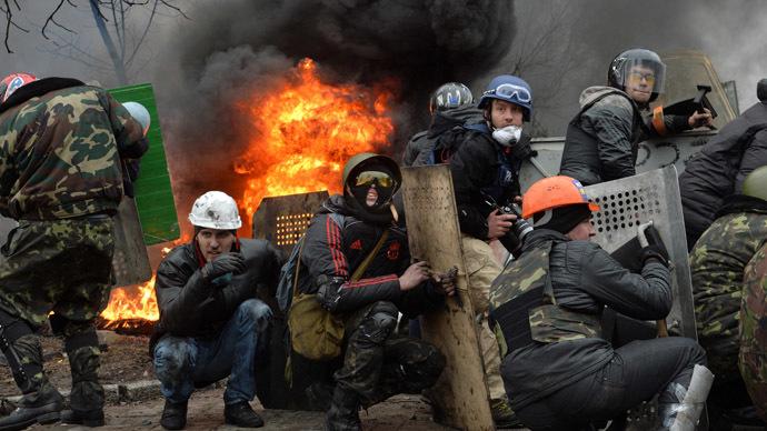 Kiev February 20, 2014.  (AFP Phoro/Sergey Supinsky)