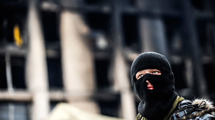 Kiev, February 23, 2014.(AFP Photo / Bulent Kilic)