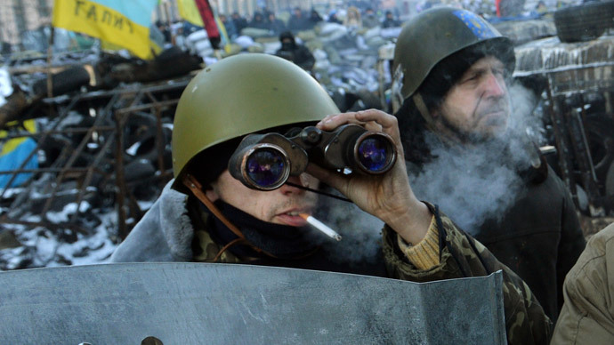 Kiev on January 31, 2014. (AFP Photo / Sergei Supinsky)