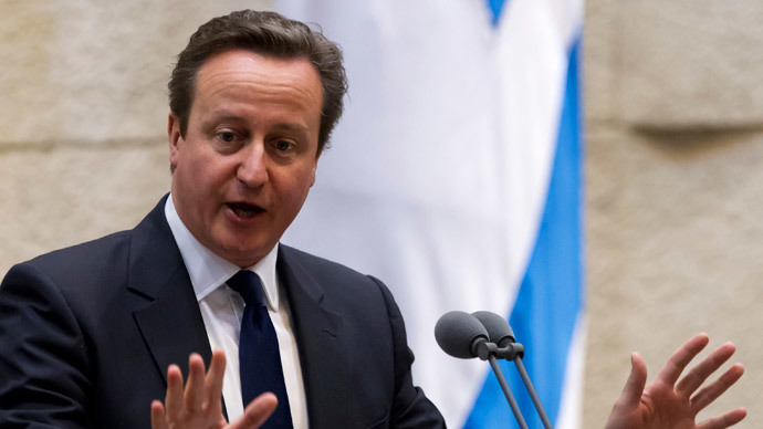 British Prime Minister David Cameron (AFP Photo / Jim Hollander / Pool)