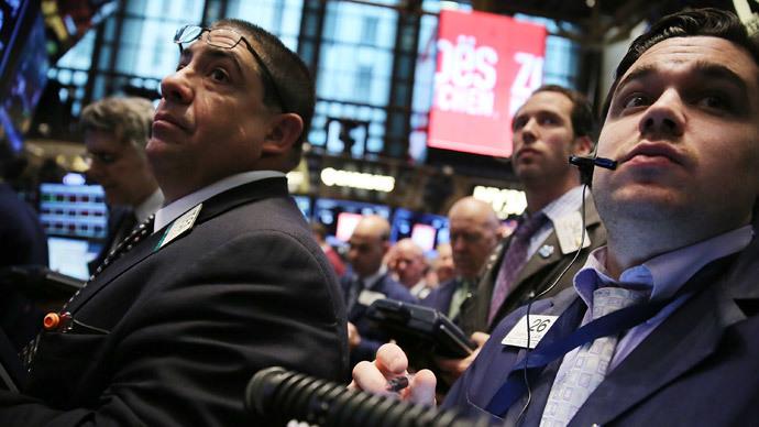 Traders work on the floor of the New York Stock Exchange (Spencer Platt / Getty Images / AFP)
